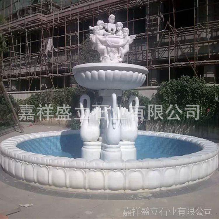 供应晚霞红风水转运球喷泉 三层欧式景观流水石雕喷泉