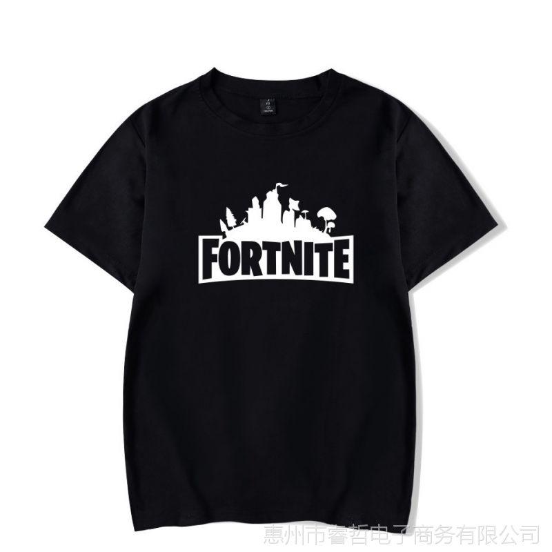 亚马逊欧美电子游戏堡垒之夜fortnite新款纯棉宽松男装短袖T恤