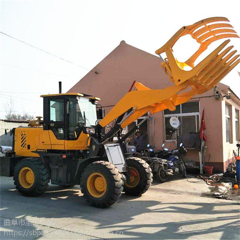 装车用抓草机抓木机 全新小型无级变速装载机 加厚加长臂铲车