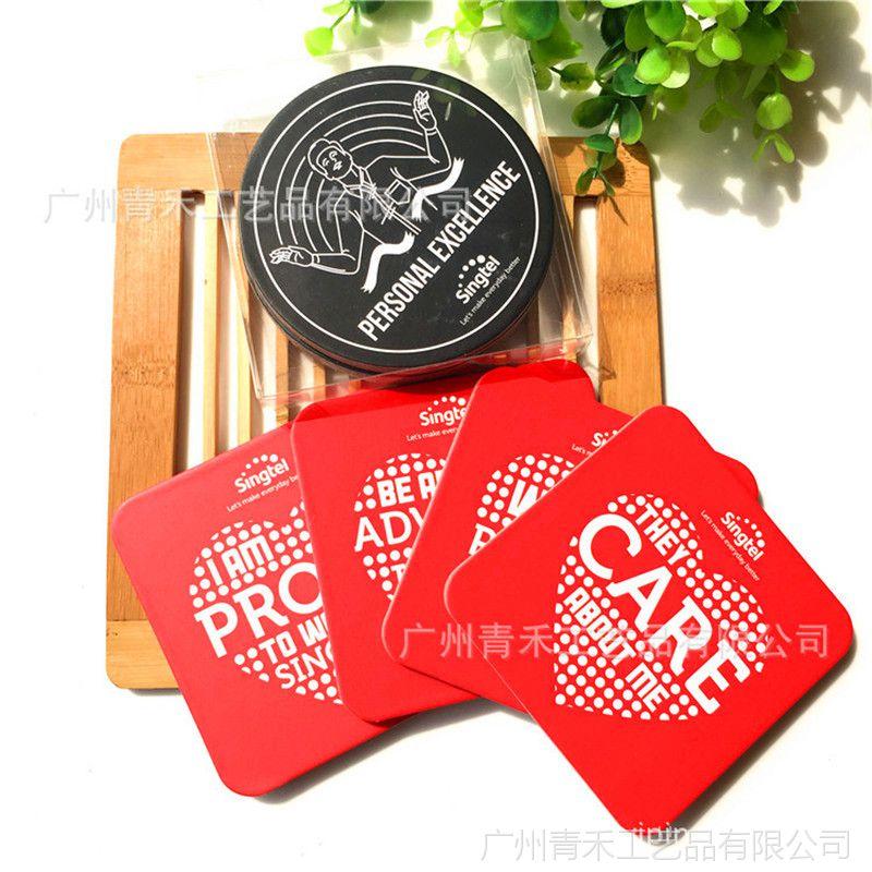 创意灰纸板软木杯垫 隔热防水防滑缓冲餐垫 环保广告杯垫
