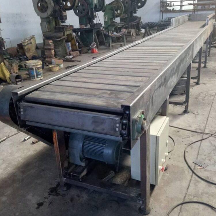 板链输送机材质区别新品 纸箱链板运输机青岛