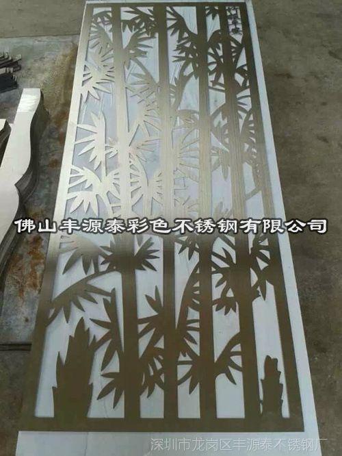花格不锈钢环形镀铜焊接激光切割定做镀铜不锈钢屏风一件起订不锈钢大厅管图片