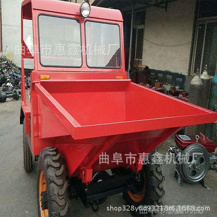 1吨柴油无蓬工程翻斗车 山东厂家出售翻斗车 两驱轮式前卸翻斗车