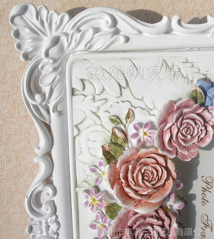6吋白色系列田园树脂工艺品欧式相框相架新奇特一手货源新品批发