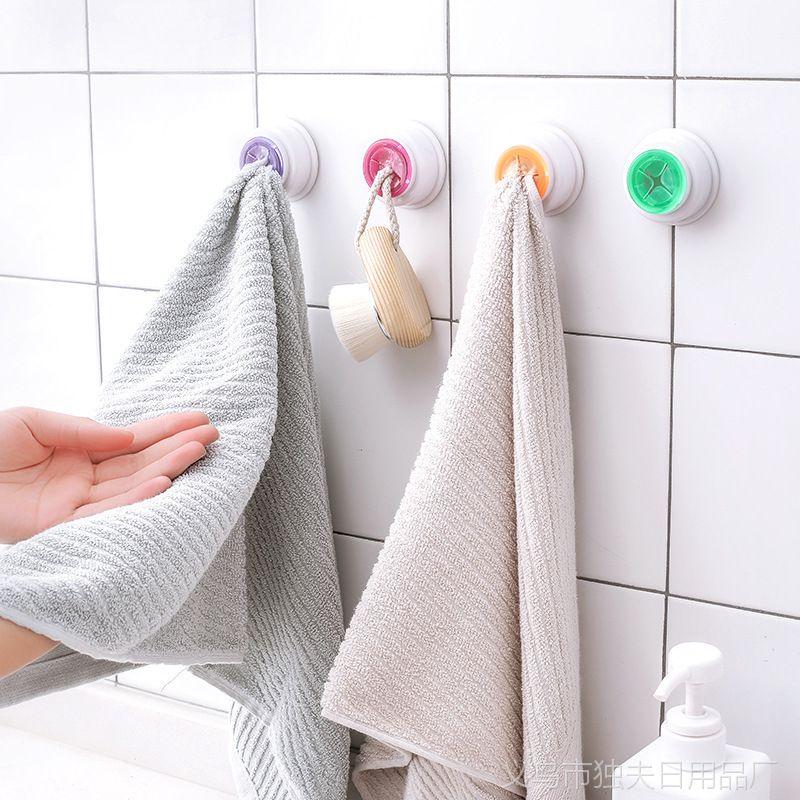 1527创意自粘多用抹布夹子 多色懒人毛巾挂钩 抽取洗碗巾夹子