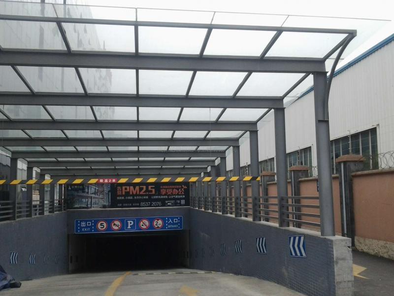 铭政钢构承接户外钢结构汽车棚雨棚工程 膜结构棚类