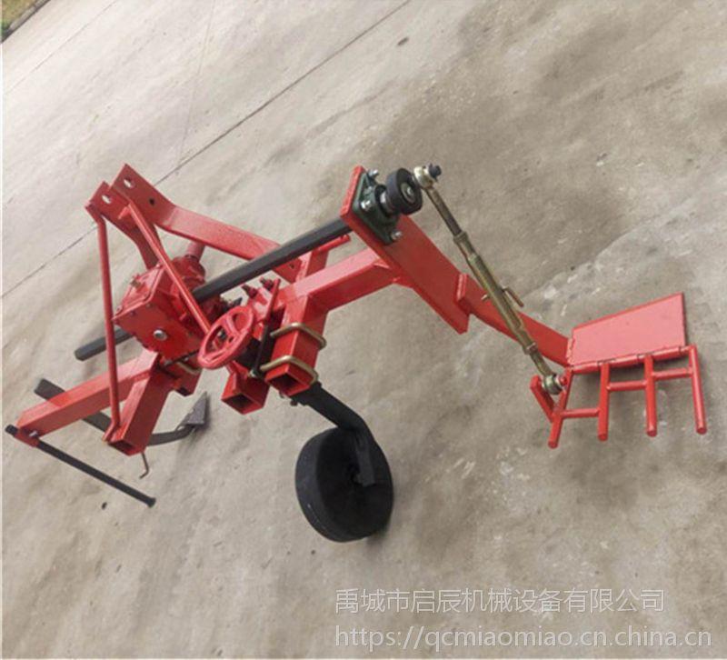 四轮拖拉机带的大葱收获机挖葱用的农机起葱机