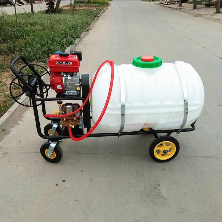 农用杀虫喷雾器 手推式大棚蔬菜防治打药机自动卷管洒水车