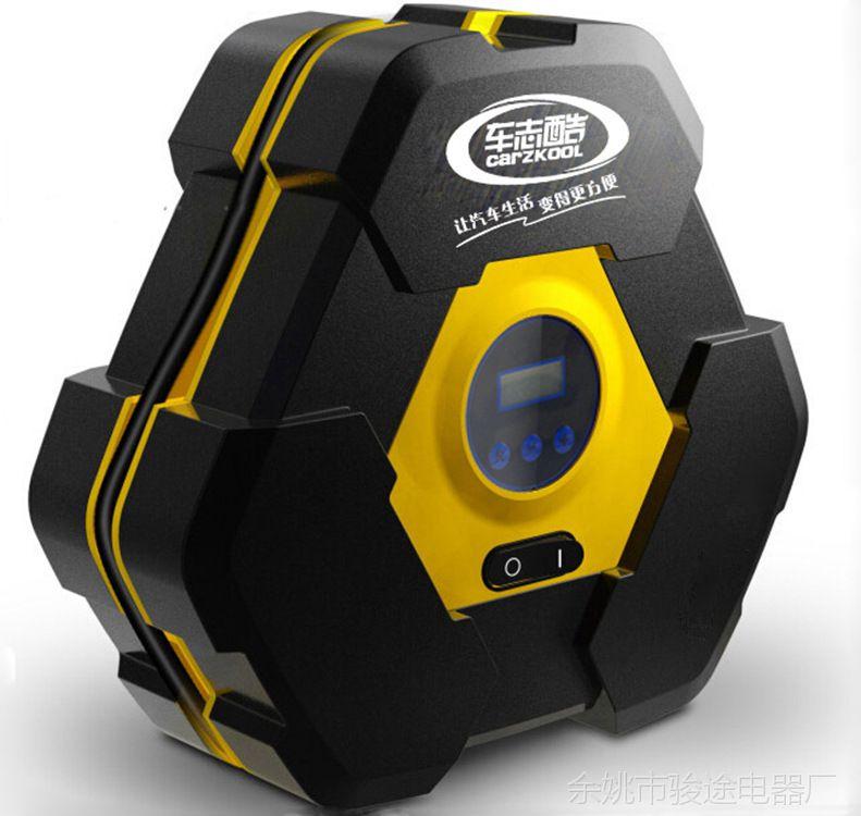 车载充气泵汽车带灯轮胎打气泵车用12v便携式应急自动停充