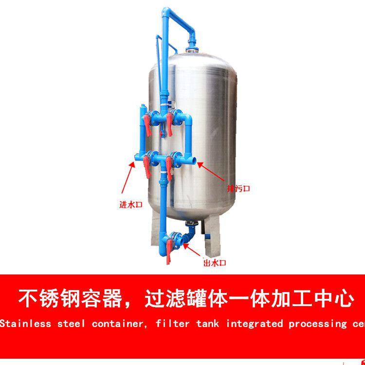 厂家直销 临川区山泉水除泥沙悬浮物过滤器 304不锈钢材质广旗牌