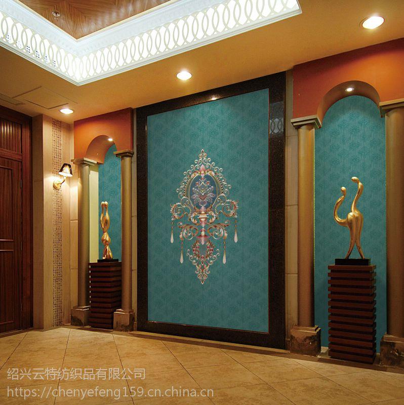 厂家直销新绣墙布新中式528-4绿色环保