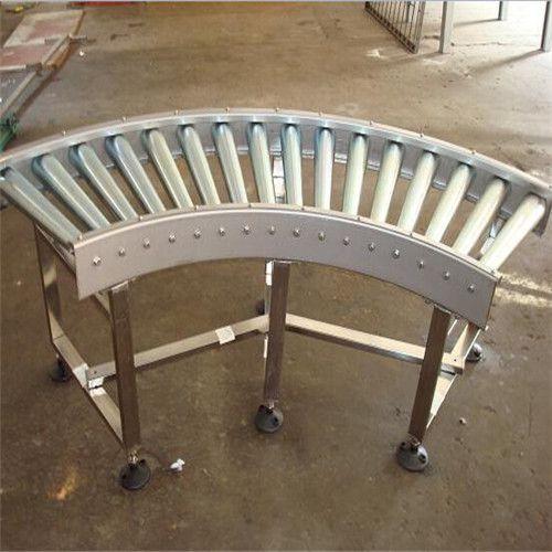 宜兴辊筒转弯输送机 铝型材纸箱动力辊筒输送机