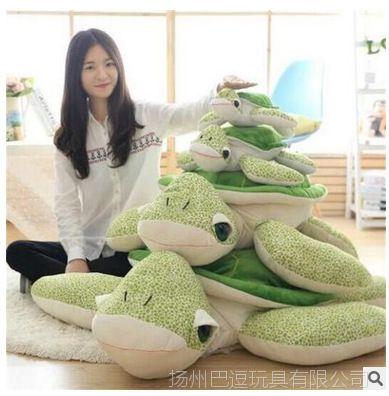 【女孩睡觉厂家大号直销抱枕可爱海龟毛绒玩具乌龟包爱带聊天表情图片