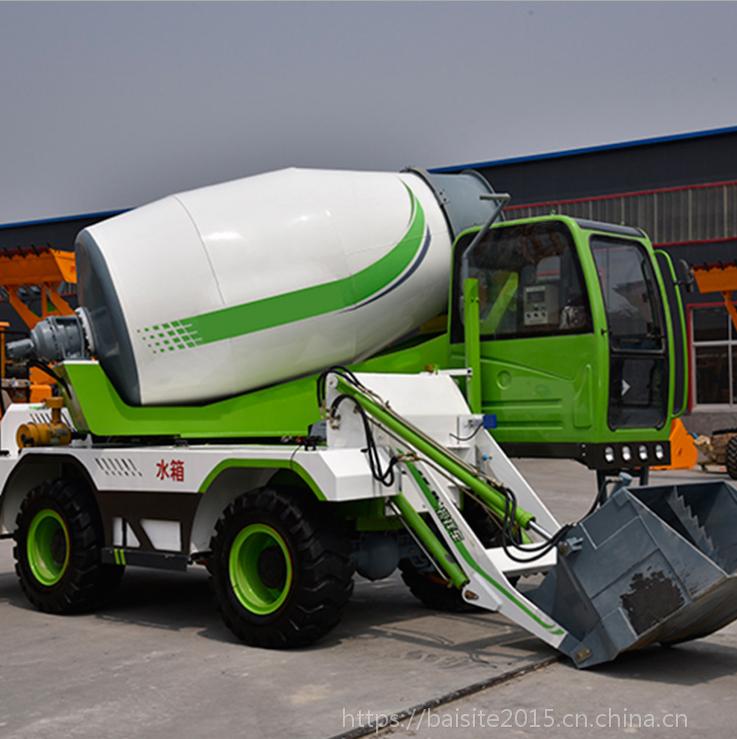 鄂州3.6方全自动上料搅拌一体车价格 大型混凝土搅拌机
