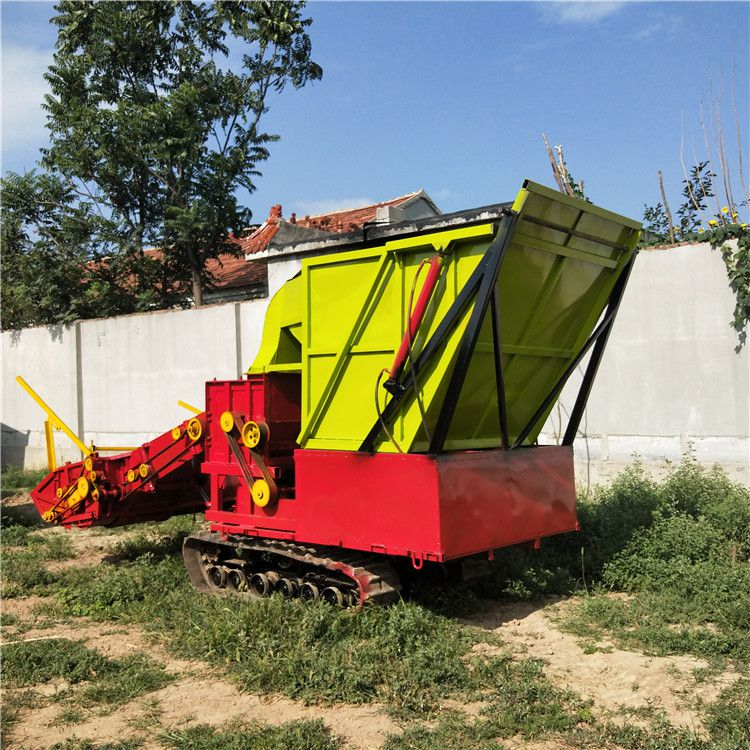 大型玉米秸秆青储机 腾信机械供应优质履带式青储机