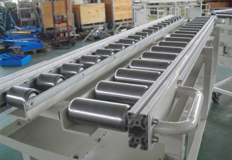 山西轮胎辊筒转弯输送机 碳钢喷塑纸箱动力辊筒输送机