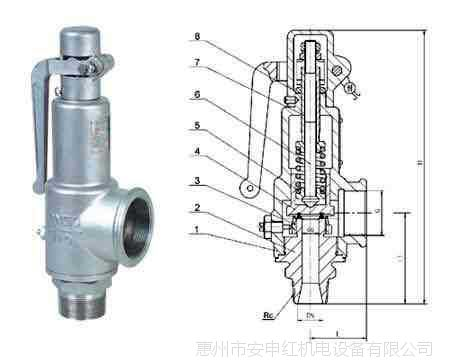 优质复盛 空压机  安全阀  价格优惠 质量保证