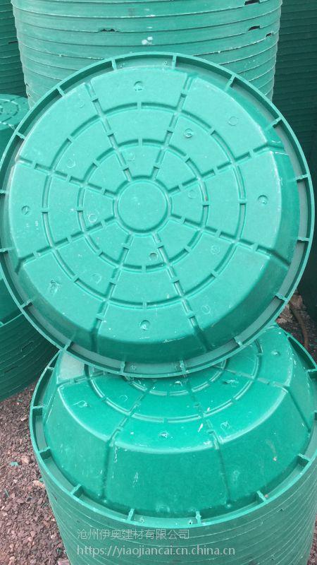 河北树脂井盖厂家供应 绿化种植草盆井盖 复合草坪圆形盖700 下沉式隐形