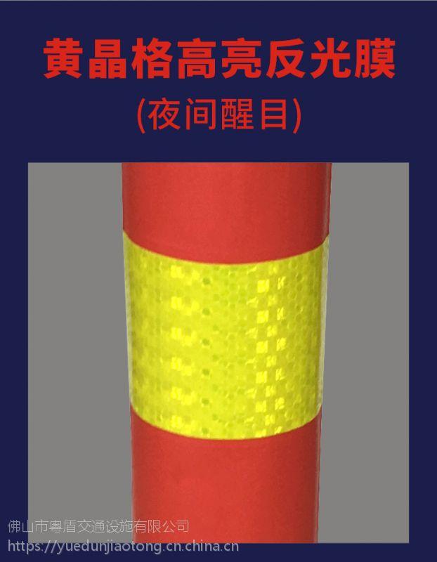 广东佛山厂家直销  粤盾交通PE塑料弹力柱警示柱柔性禁止柱橡胶车位塑料桩(图5)