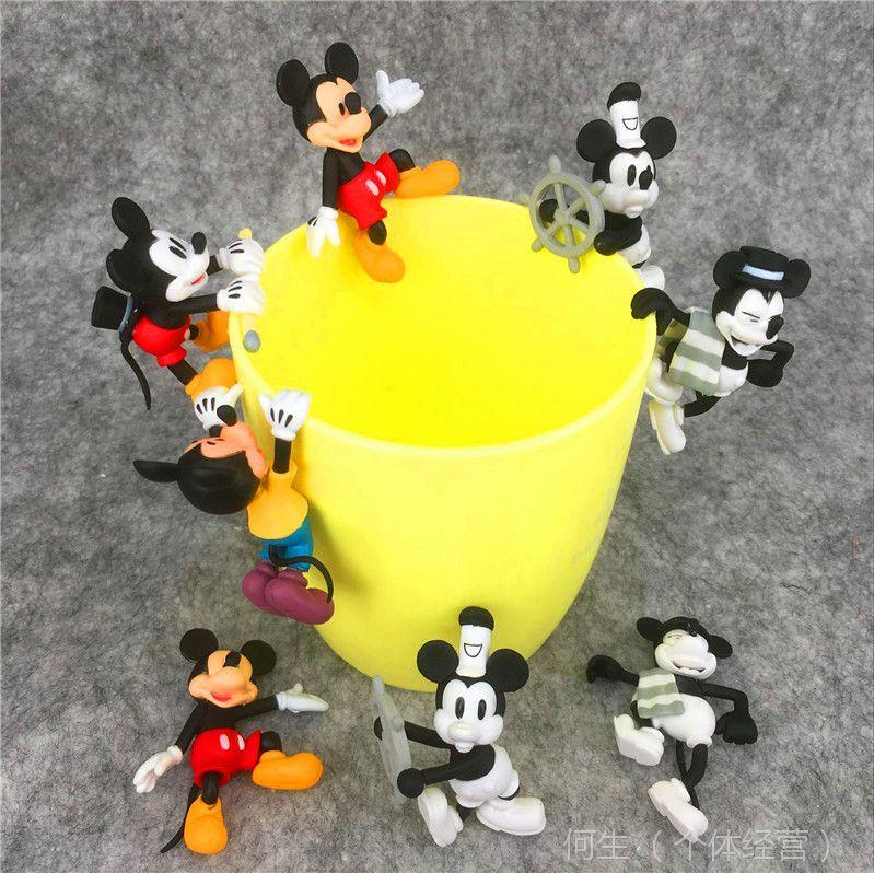日本卡通系列~米奇杯缘子 全5款 8个/盒 茶友杯挂公仔装饰品 彩盒