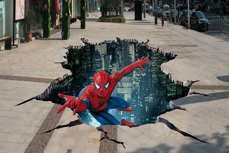 深圳商场防滑3D地贴喷绘制作工厂 新发现喷绘