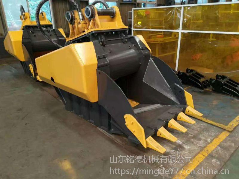 最新供应 厂家直销挖掘机碎石斗 鄂式破碎斗 移动粉碎机  (1)采用液压图片