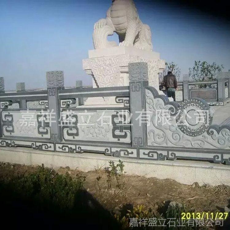 专业石雕厂供应河道工程石护栏 大理石汉白玉栏杆 上门安装