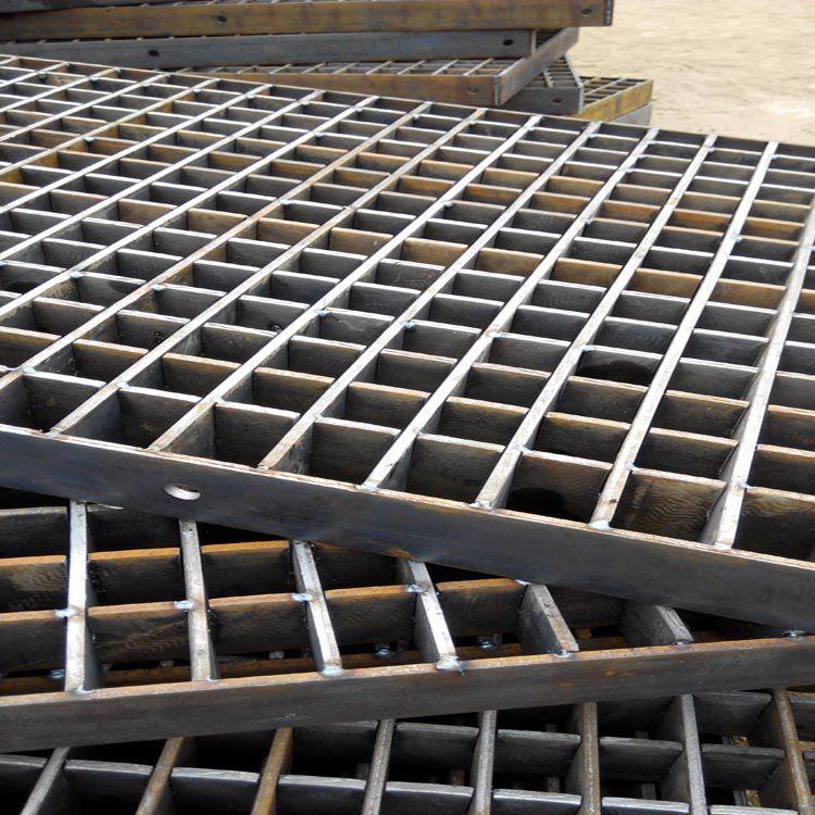 加厚钢格板 生产格栅踏板 304沟盖板