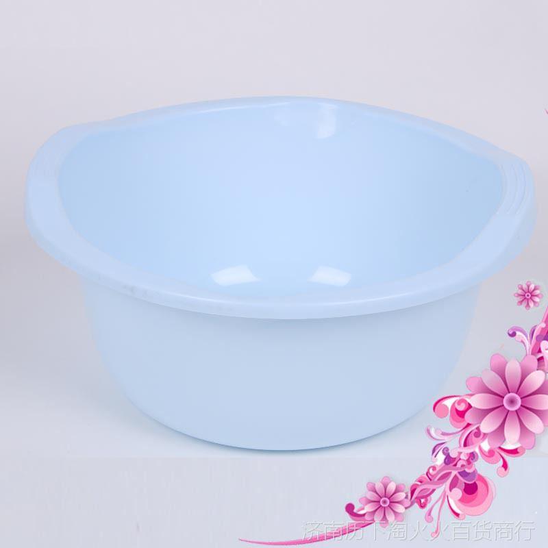 塑料双耳盆加厚塑料洗脸盆洗衣盆 欧式塑料盆家居时尚塑料圆盆