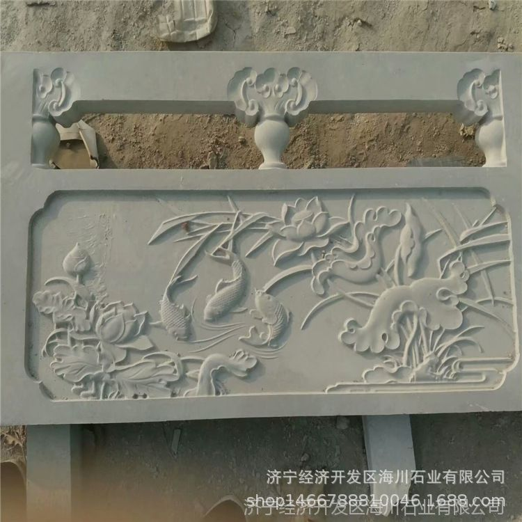 卧室护栏景区石雕汉白玉石栏杆安装定做栏板建e网规格设计图图片