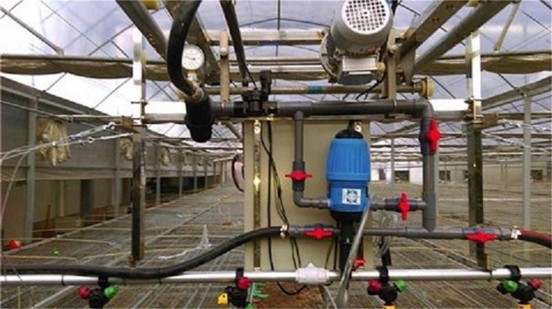 供应邯郸温室大棚双轨道平移自走式育苗喷灌机水车(图)温室大棚