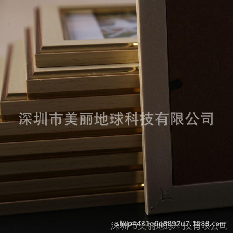 七寸树脂相框摆台7寸金色创意儿童宝宝婚纱照像框架挂墙加洗照片