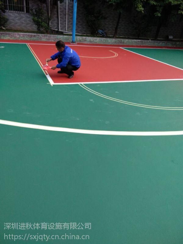 室外2mm丙烯酸球场 环保及佳耐磨性