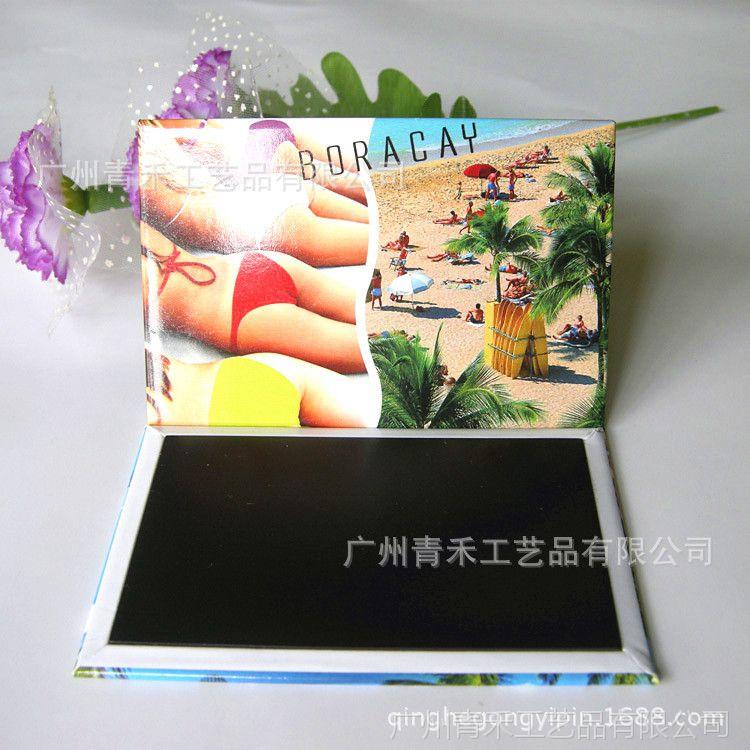 广州工厂定做 旅游景区宣传马口铁冰箱贴 金属工艺礼品定制