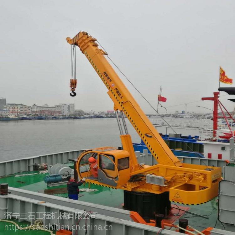 船吊可360度旋转 青岛码头专用6吨固定吊