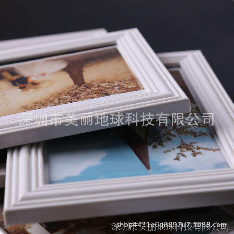 特价九宫格楼梯照片墙 地中海白色墙面组合相框墙钟表相片墙装饰