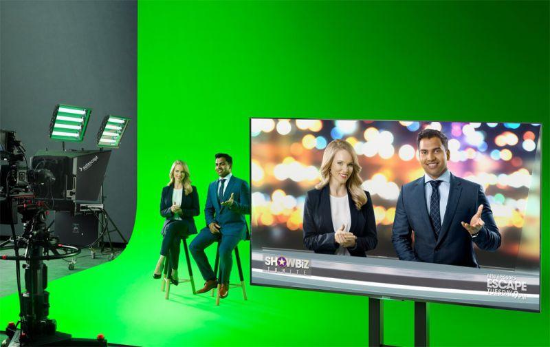 UE4虚拟演播室场景素材