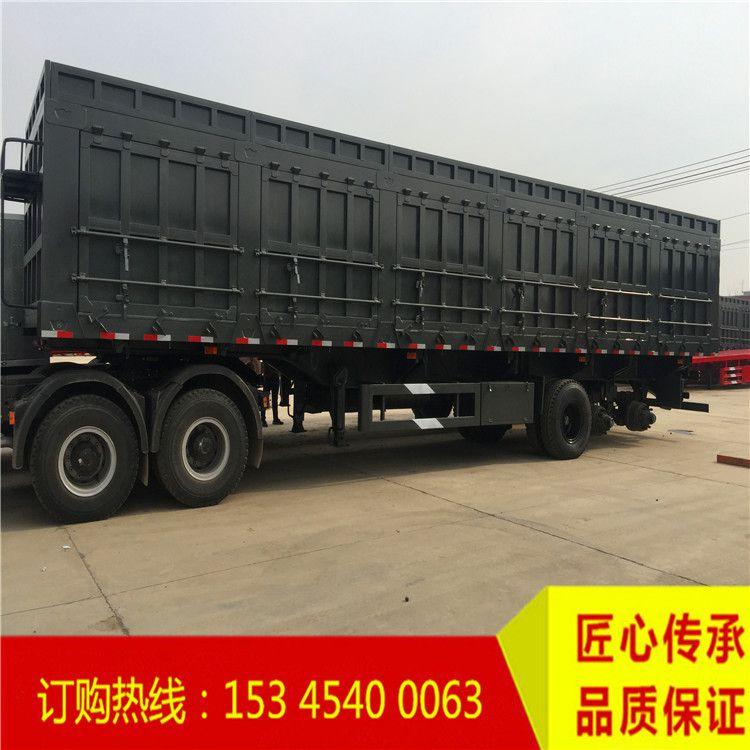 仓栏帘布运输半挂车市场走向 轻型40吨散装水泥罐价格