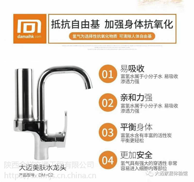 大迈净水龙头DM-T4 厨房菜盆龙头净水 除垢复合滤芯