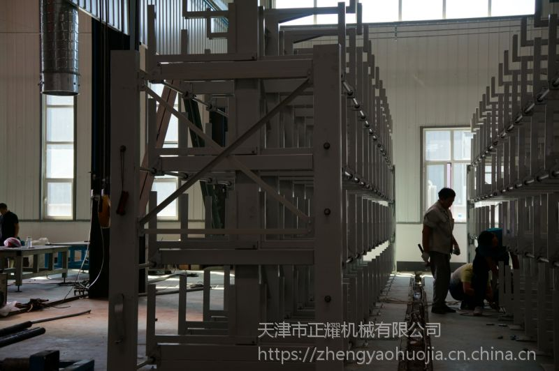 江西10米长管存放架 伸缩悬臂式货架 吊车配套货架结构