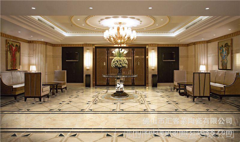 金刚石拼花砖 800*800mm 别墅客厅酒店宴会厅过道地面拼花瓷砖