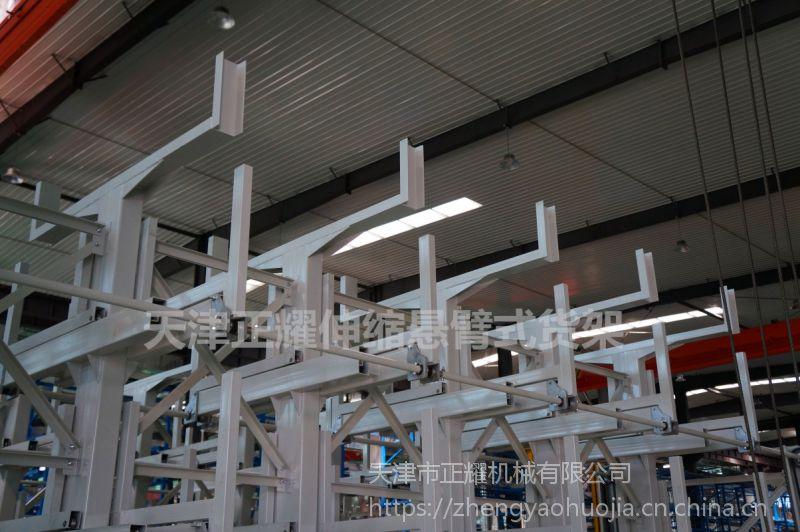 福建长管存放架 伸缩悬臂式货架价格 管材库专用货架设计