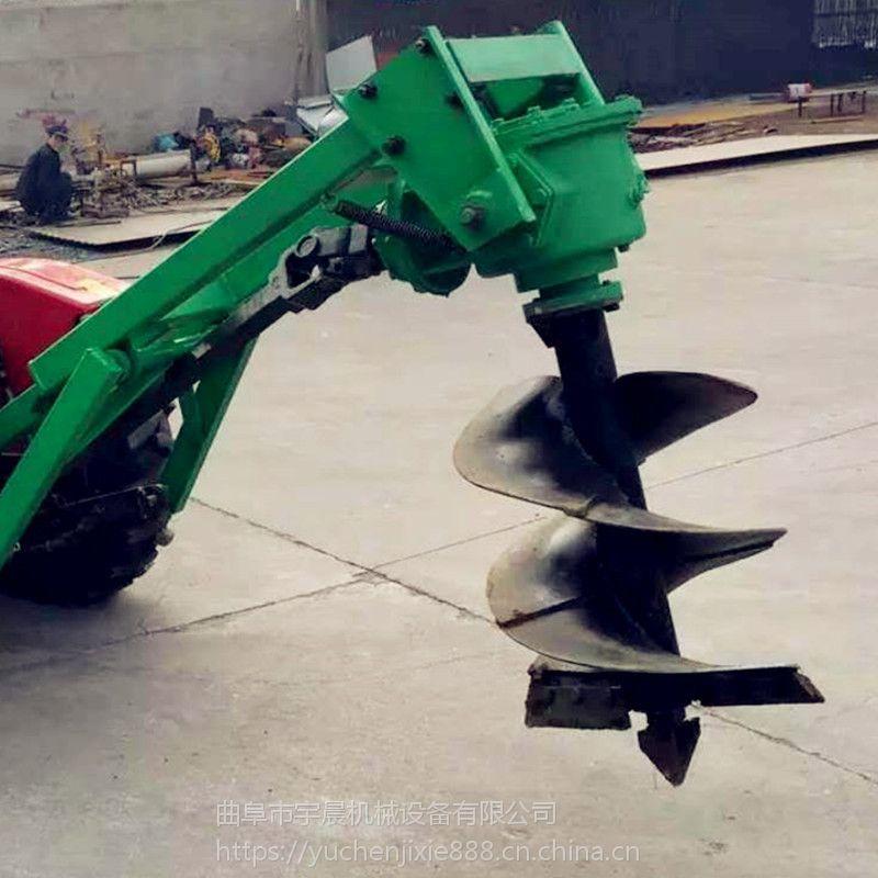 绿化种植刨坑机 拖拉机后悬挂挖坑机 水泥柱立杆钻地机批发