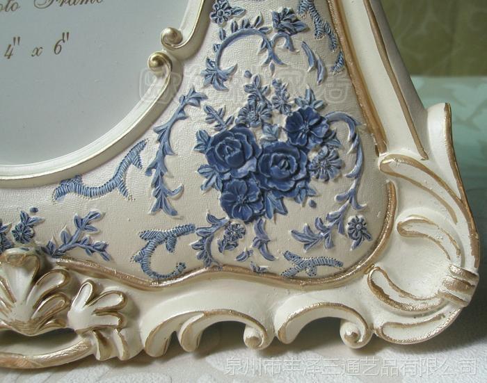 6寸一件起混批青花瓷田园树脂欧式相框相架日韩风格新品厂价批发