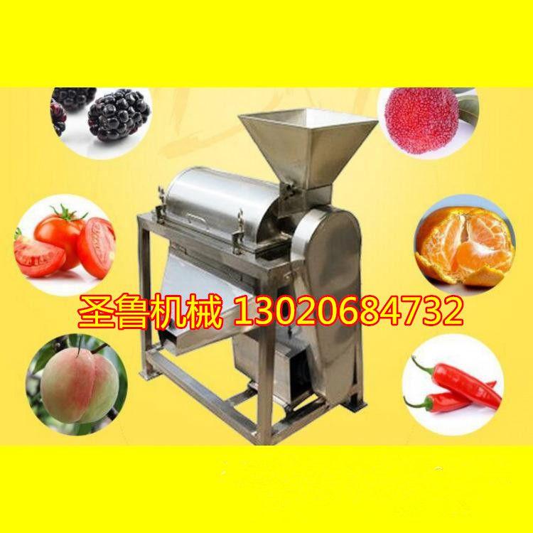 新鲜水果榨汁机 橘子汁压榨机 圣鲁牌大型全自动破碎榨汁机组