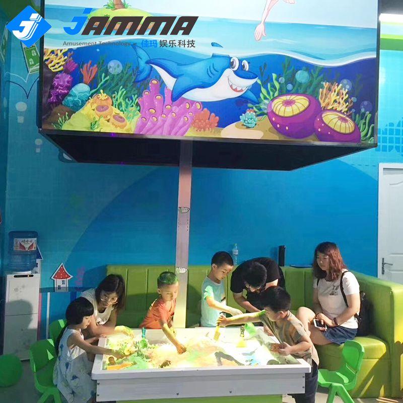 佳玛新款AR互动投影沙盘 桌面沙滩 淘气堡 亲子娱乐设备