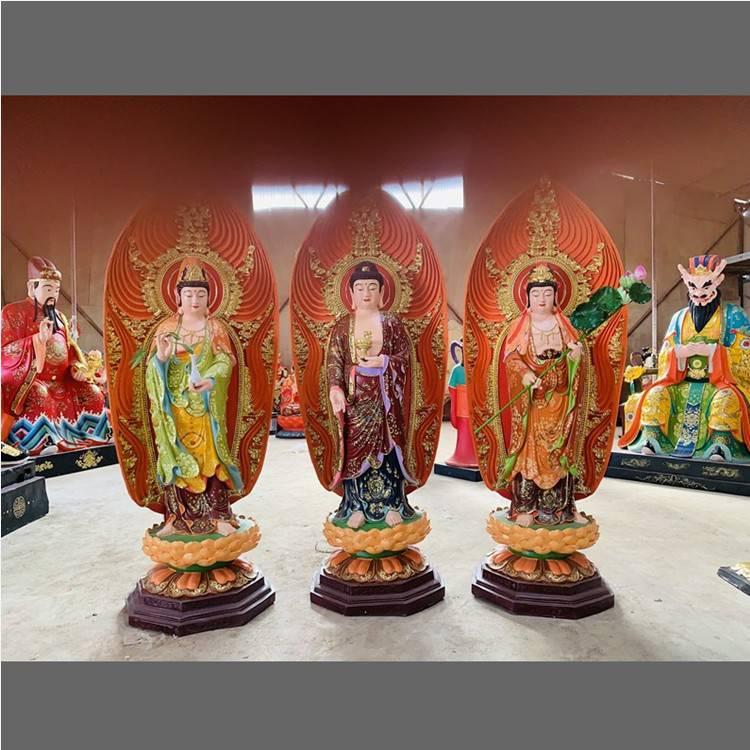 寺庙佛像 供应东方三圣 日光菩萨 月光菩萨 药师佛 东方三圣佛像