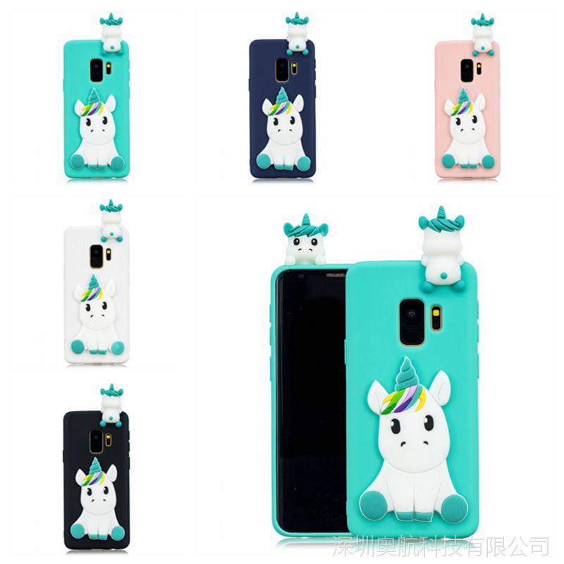三星S9手机壳 J系列 A系列超个性呆萌3D立体独角兽 熊猫手机套