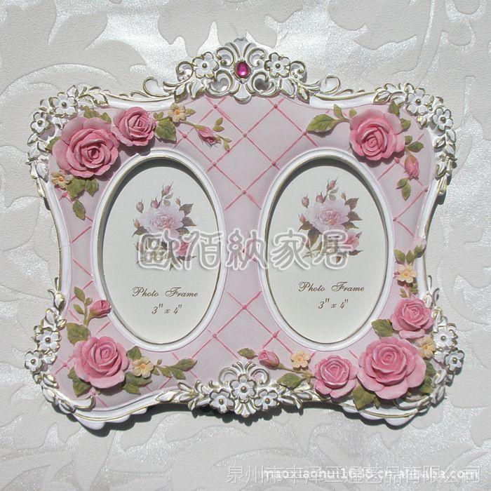 一件起小额混批玫瑰田园树脂欧式相框相架结婚婚纱照礼物家居日用