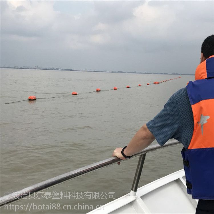黄红色抬缆浮航道警示浮桶生产厂家